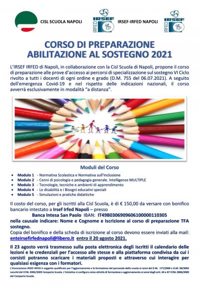 Locandina Concorso - TFA 2021 W-1